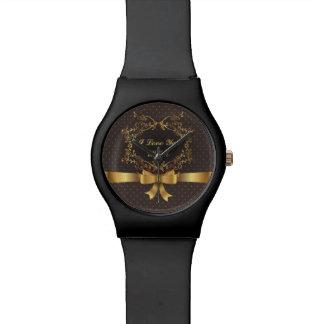 Diseño de oro elegante feliz del día de madre relojes de mano