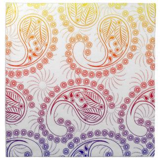 Diseño de Paisley del molinillo de viento del arco Servilleta De Papel