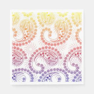Diseño de Paisley del molinillo de viento del arco Servilletas De Papel