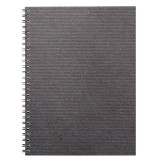 Diseño de papel alineado negro de la textura del libreta espiral