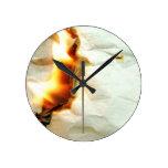 Diseño de papel ardiente relojes