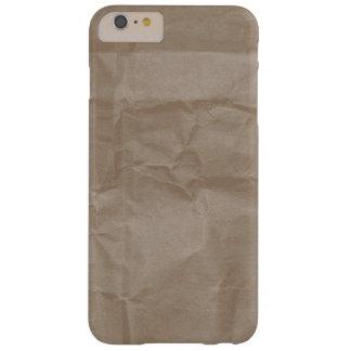 Diseño de papel arrugado de la textura funda barely there iPhone 6 plus