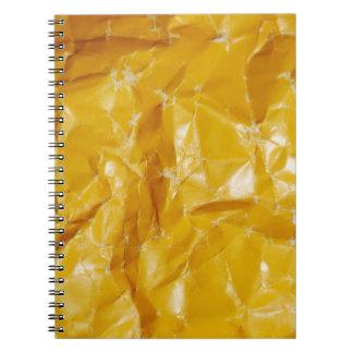 Diseño de papel arrugado note book