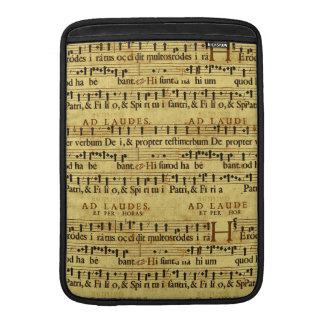 Diseño de papel de la notación de la partitura mus fundas macbook air