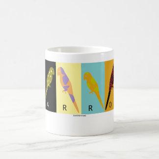 Diseño de /parakeet del loro taza básica blanca