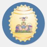 Diseño de Pascua Etiquetas Redondas