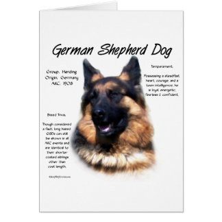 Diseño (de pelo largo) de la historia del perro de tarjeta de felicitación