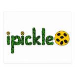 Diseño de Pickleball del ipickle de la diversión Tarjeta Postal