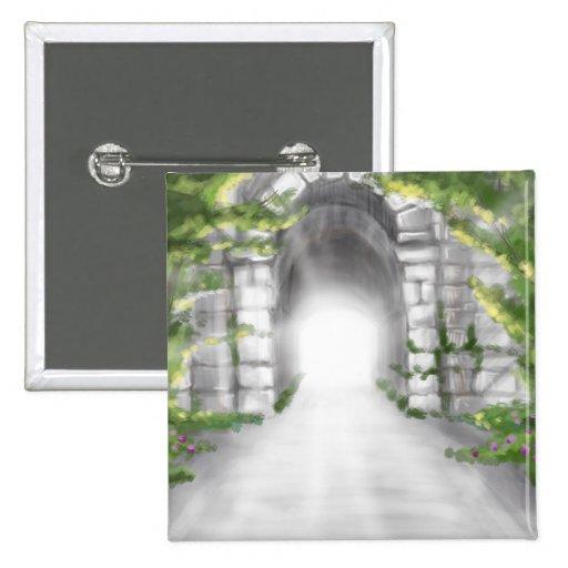 diseño de piedra bonito del enrejado del túnel pins