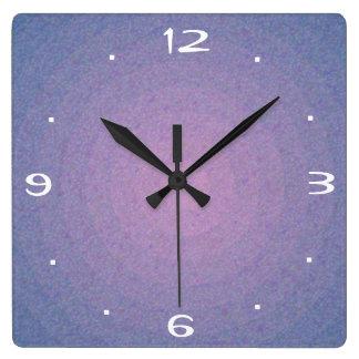 Diseño de piedra de color de malva > reloj llano d