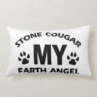 diseño de piedra del gato del puma cojin