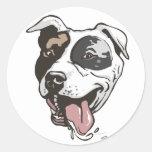 Diseño de Pitbull por los estudios de Mudge Pegatina Redonda
