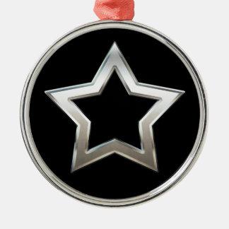 Diseño de plata brillante de Digitaces del esquema Adorno Navideño Redondo De Metal