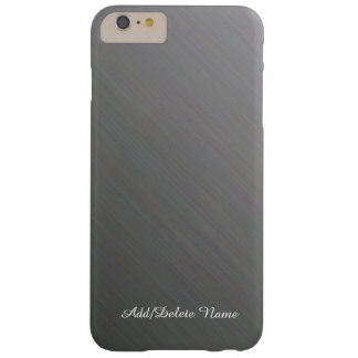 Diseño de plata cepillado funda de iPhone 6 plus barely there