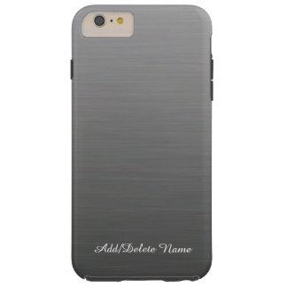 Diseño de plata cepillado funda de iPhone 6 plus tough