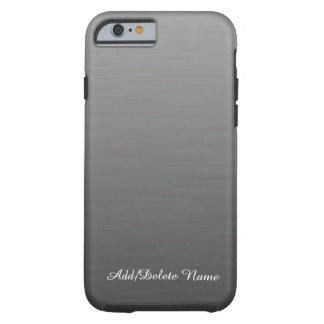 Diseño de plata cepillado funda de iPhone 6 tough