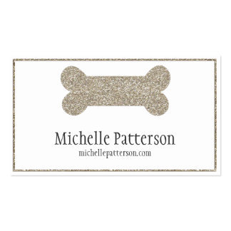Diseño de plata de la tarjeta de visita del hueso