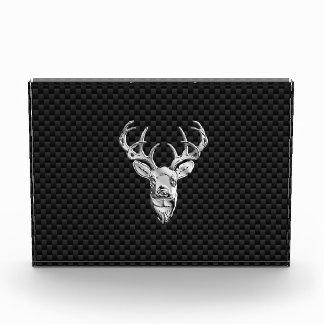 Diseño de plata de los ciervos en la impresión del