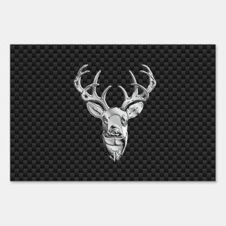 Diseño de plata de los ciervos en la impresión del señales