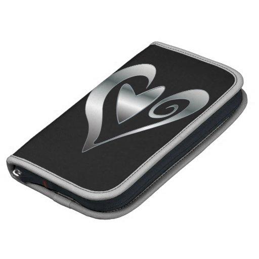 Diseño de plata moderno de los corazones del efect organizadores