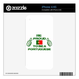 Diseño de Portugal Calcomanías Para El iPhone 4