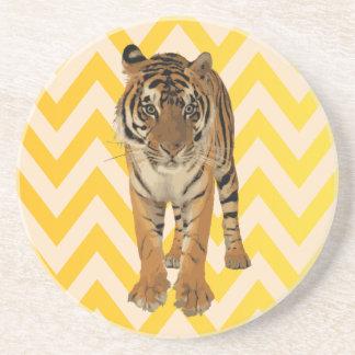Diseño de producto del arte de los tigres posavaso para bebida