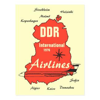 Diseño de publicidad Interflug DDR Tarjeta Postal