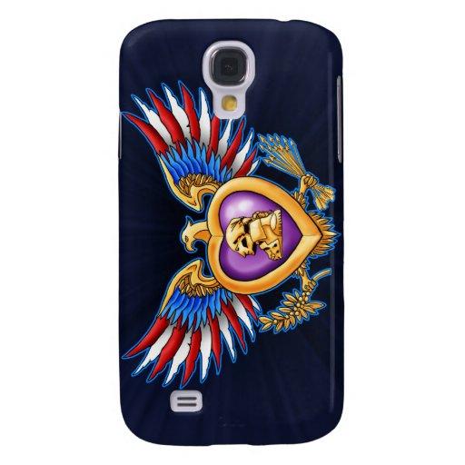 Diseño de Purple Heart Carcasa Para Galaxy S4