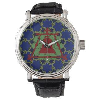 Diseño de Raincross Fleur del vitral Reloj