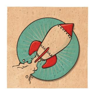 Diseño de RocketShip del dibujo animado Posavasos