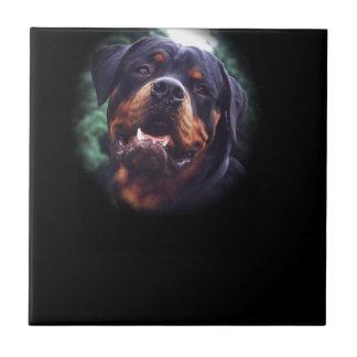 Diseño de Rottweiler Azulejo Cuadrado Pequeño