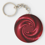 Diseño de seda rojo de la malla llavero