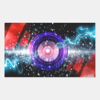 diseño de sonido del poder pegatina rectangular