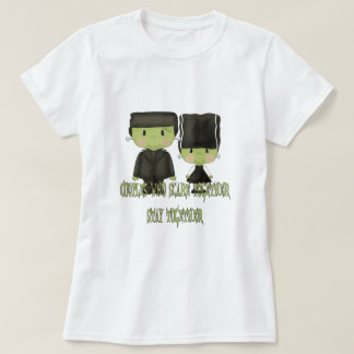 Diseño de Sr. y de señora Franken Monster Funny Playera