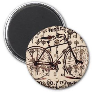 Diseño de Steampunk de la bicicleta del vintage Imán Redondo 5 Cm