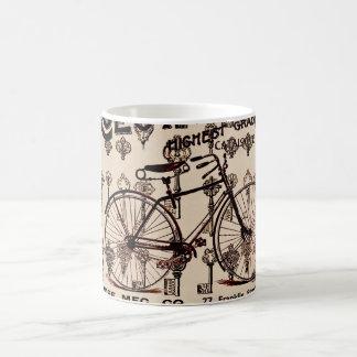 Diseño de Steampunk de la bicicleta del vintage Taza Básica Blanca