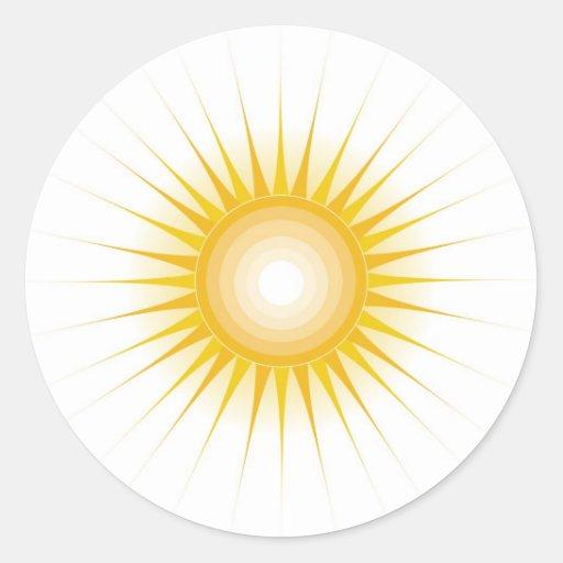 Diseño de Sun Pegatina Redonda