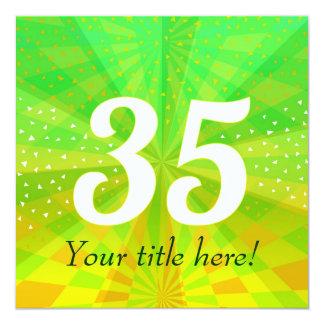 Diseño de tarjeta 35 - personalizado invite invitación 13,3 cm x 13,3cm
