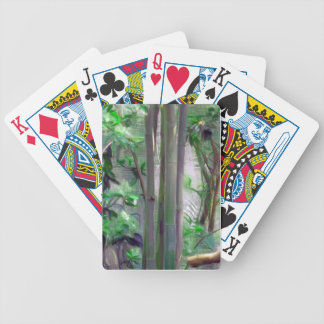 diseño de tarjeta de bambú cartas de juego