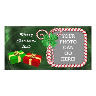 Diseño de tarjeta de la foto del navidad del tarjetas fotográficas personalizadas
