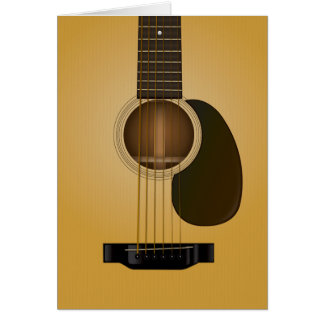 Diseño de tarjeta de nota de la guitarra acústica