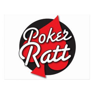 Diseño de tarjeta del Rockabilly de Ratt del póker Postales