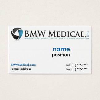 Diseño de tarjeta médico de BMW Tarjetas De Visita