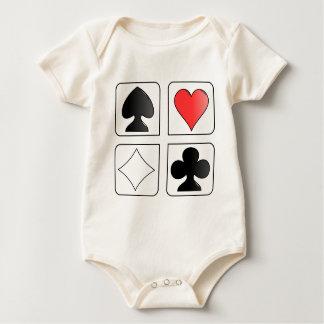 diseño de tarjetas del solitario trajes de bebé