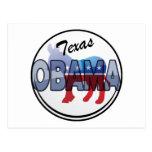 Diseño de Tejas Obama Demócrata Postal