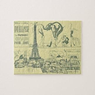 Diseño de torre Eiffel retro del circo de París de Rompecabeza