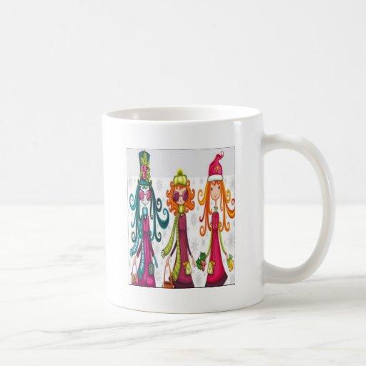 Diseño de tres chicas taza de café