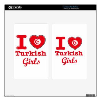 Diseño de Turquía Kindle Fire Pegatinas Skins