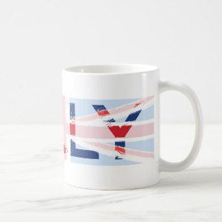 Diseño de Union Jack, Kelly Taza De Café