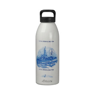 Diseño de USS CRONIN Botellas De Agua Reutilizables